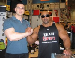 true natural bodybuilder at FIBO 2009 - Dennis James