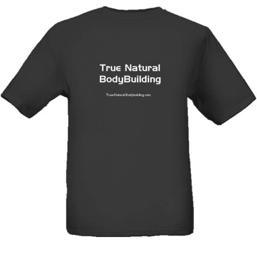 true natural bodybuilding t-shirt