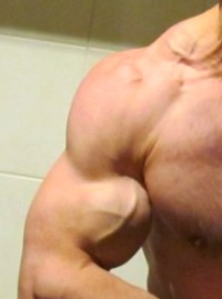 true natural bodybuilding left biceps pose