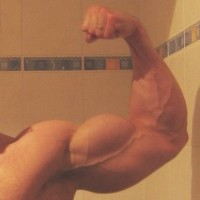 true natural bodybuilding right biceps